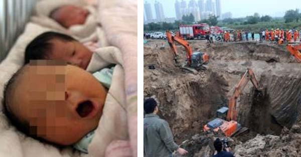 20 month old Toddler Stumbles into a Narrow Hole and Falls Into a 150 feet Well in China