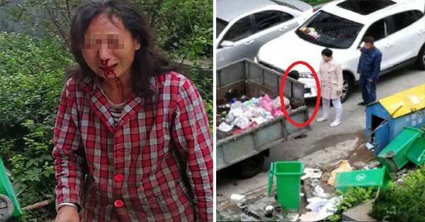 Chinese Professor under Fire after He and His Wife were Caught Beating up a Street Cleaner