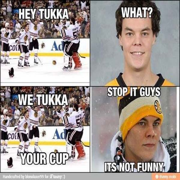 We Tuukka your cup It is SO DAMN funny!!