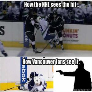 Funny Hockey Meme How The-Nhl Sees The Hit
