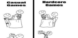 The Difference Between Casual and Hardcore Games Mega Memes LOL!