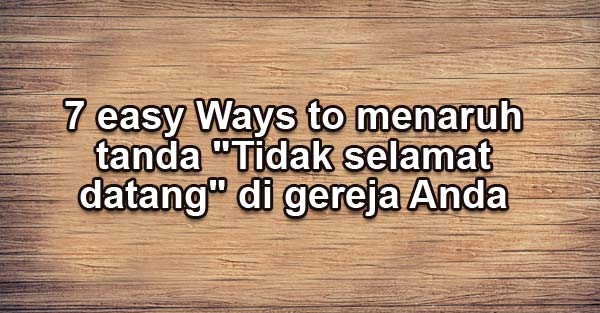 7 easy Ways to menaruh tanda